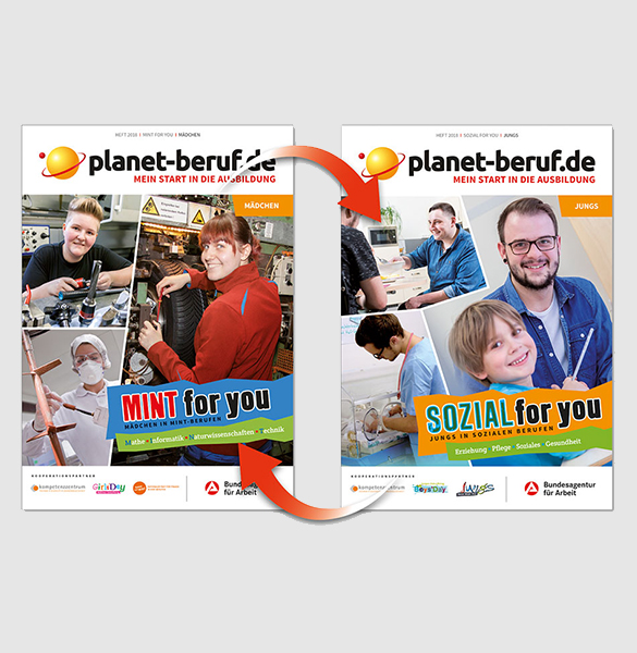"Cover des Wendehefts ""MINT & Sozial for you 2018"""